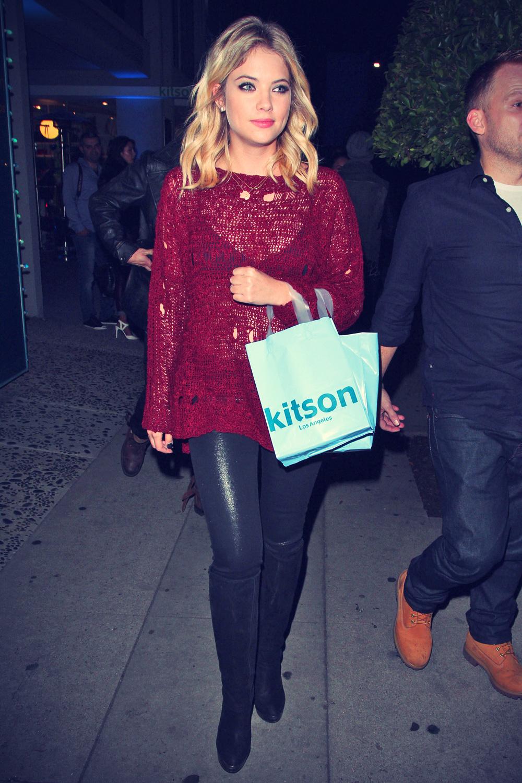 Ashley Benson leaving an event at Kitson