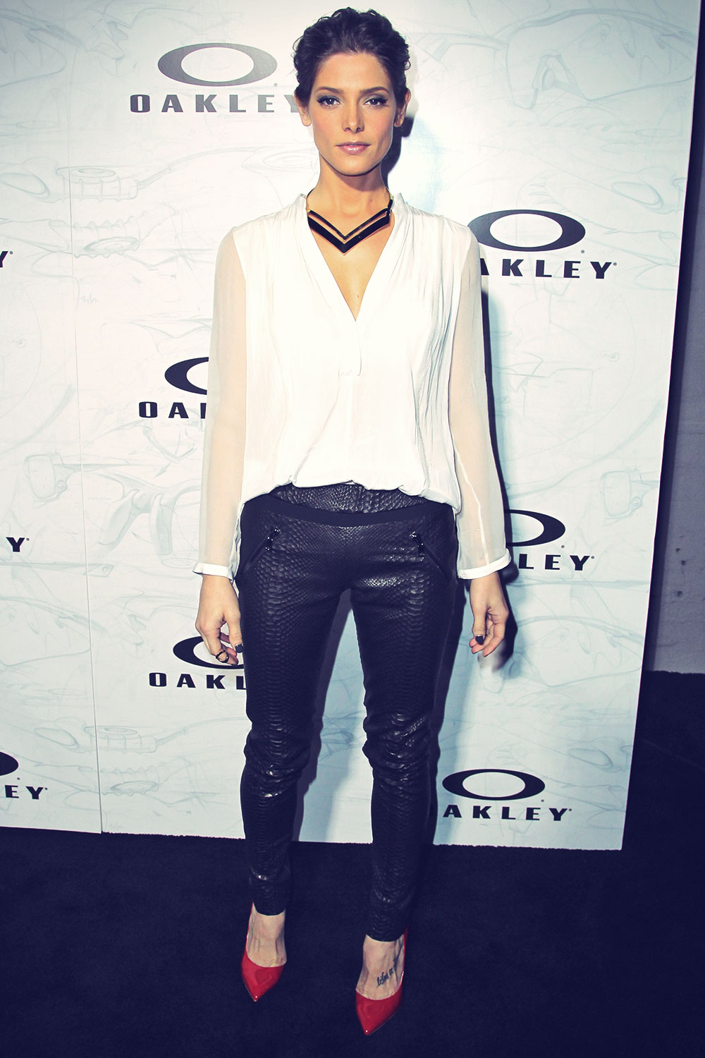 Ashley Greene attends the Oakley's Disruptive By Design Global Campaign Launch
