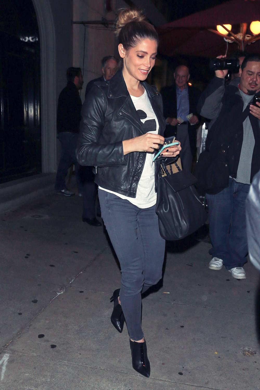 Ashley Greene leaving Craig's Restaurant