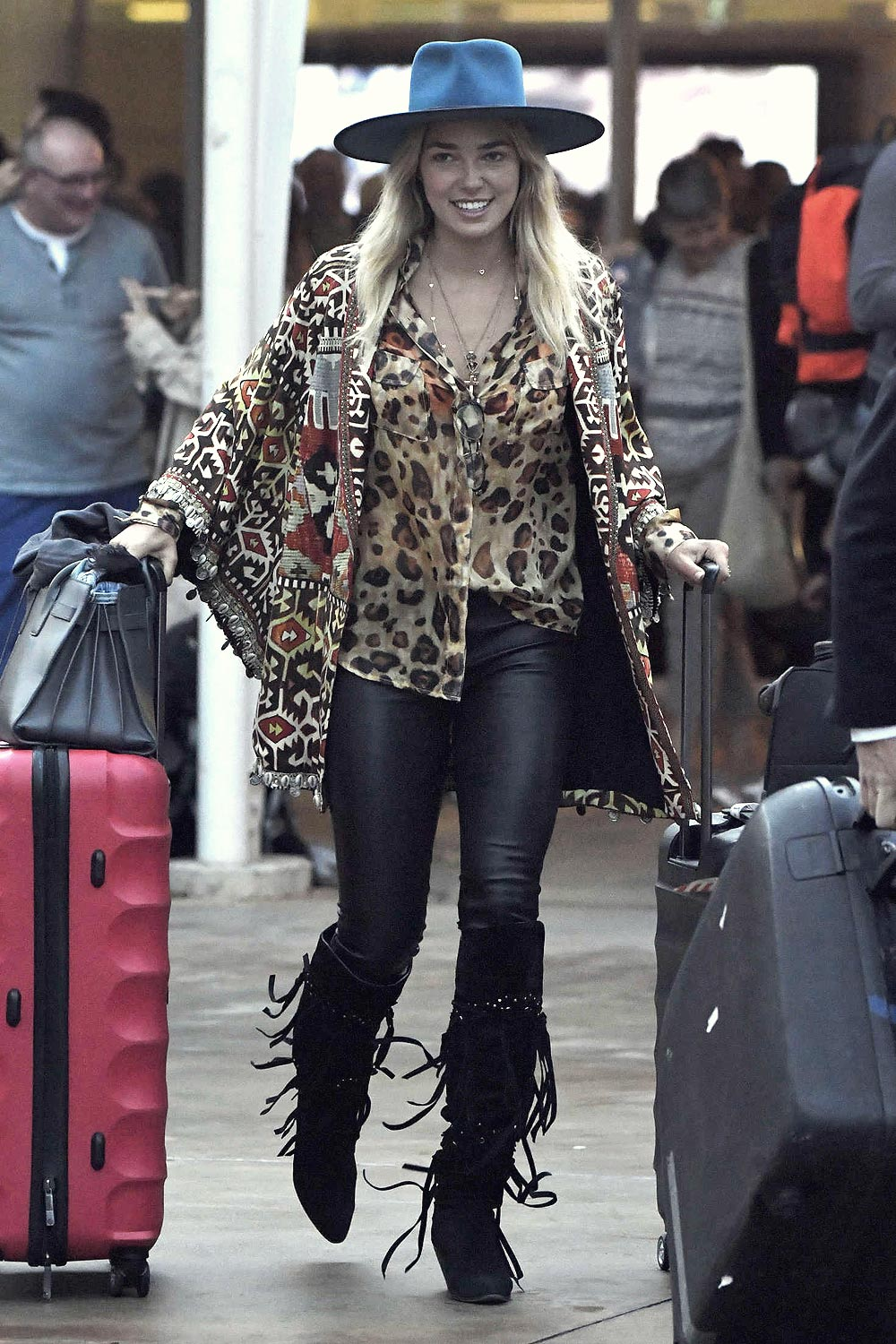 Ashley Hart arrives in Sydney