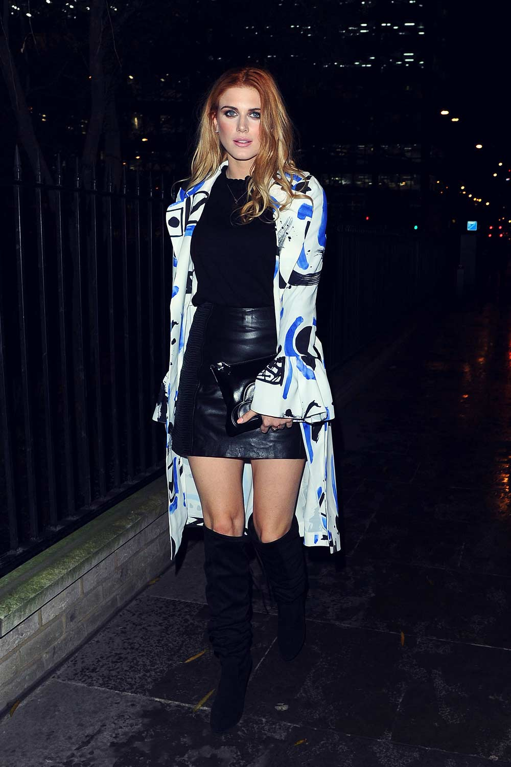 Ashley James attends PPQ fashion show