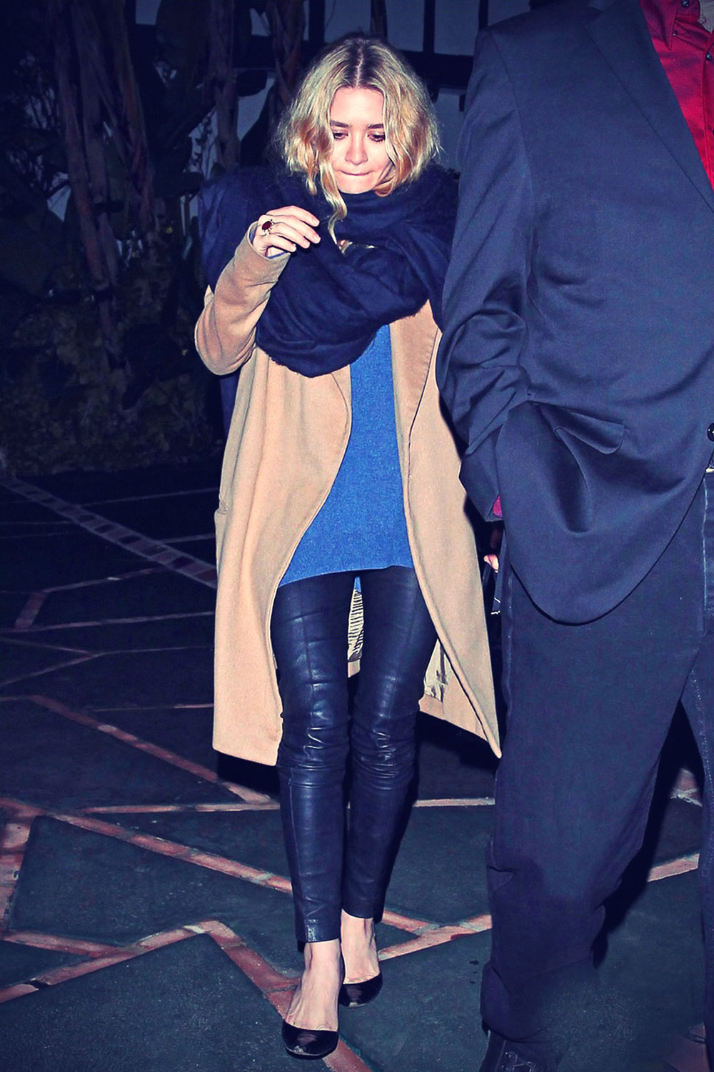 Ashley Olsen leaves a private Holiday party