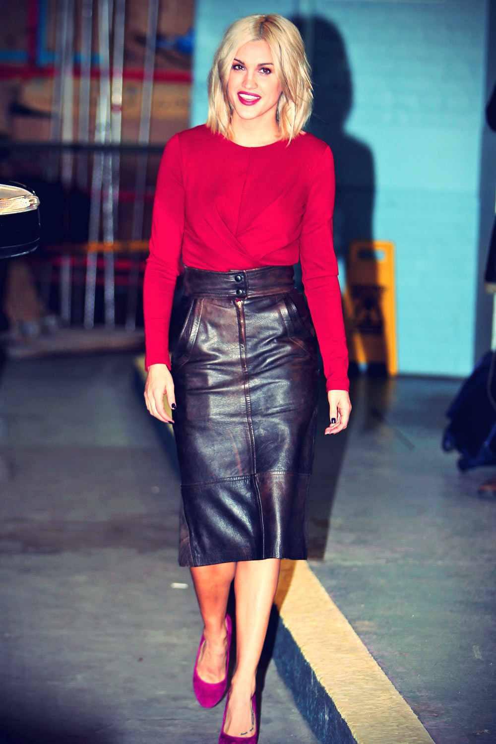 Ashley Roberts seen at the London studios