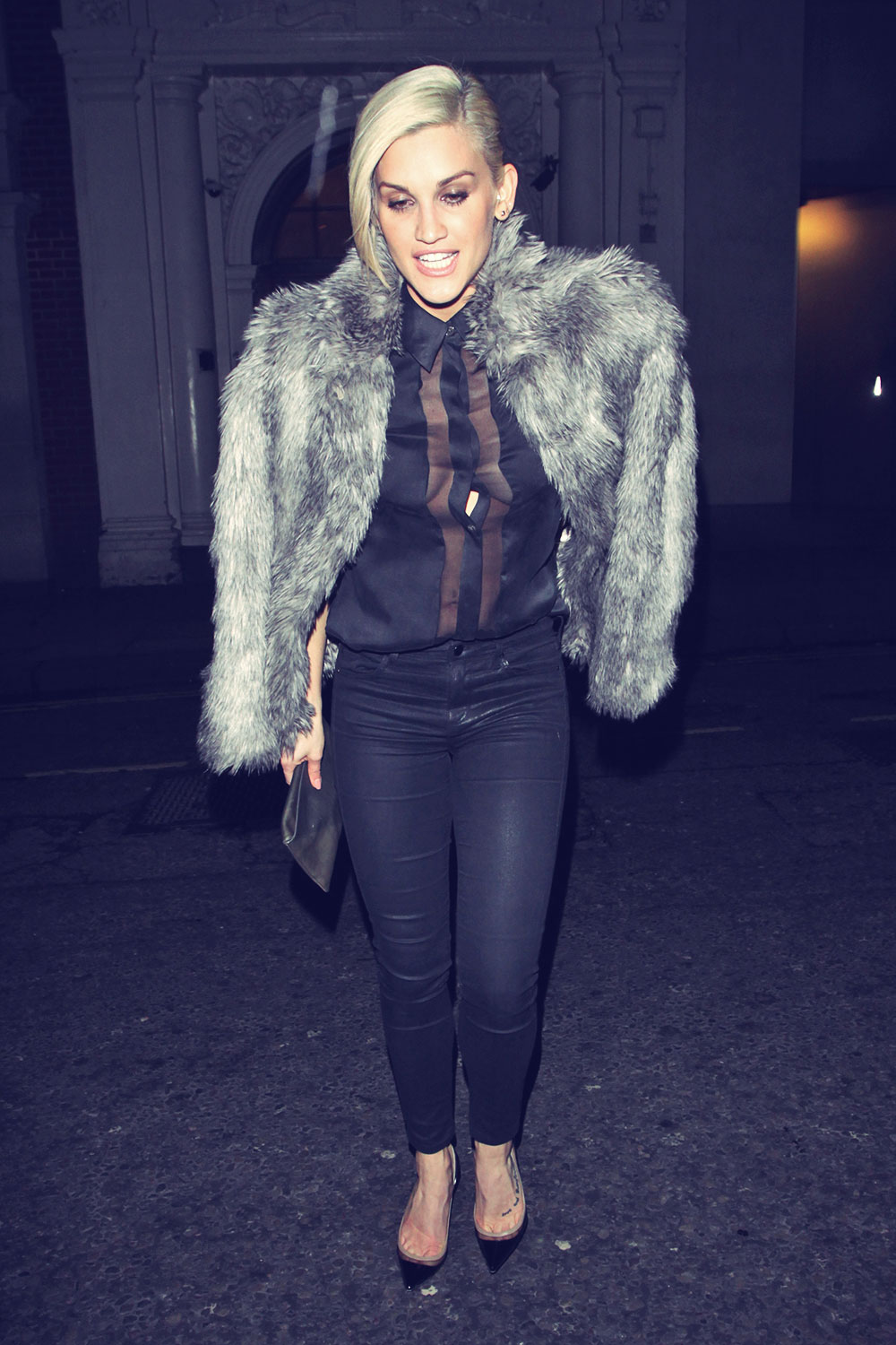 Ashley Roberts seen at the Mayfair Hotel