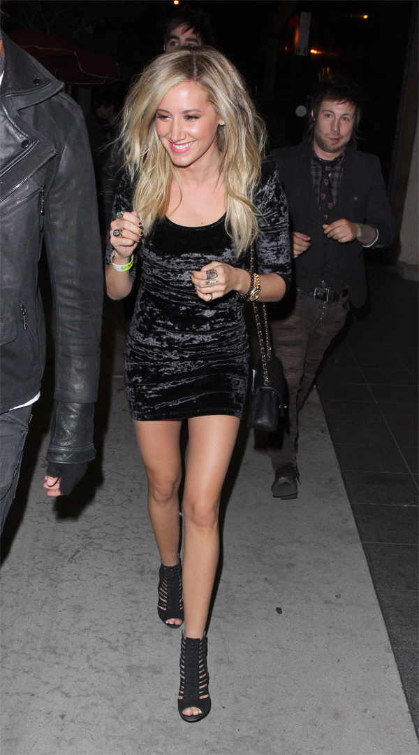 Ashley Tisdale - at the Trousdale night club in LA