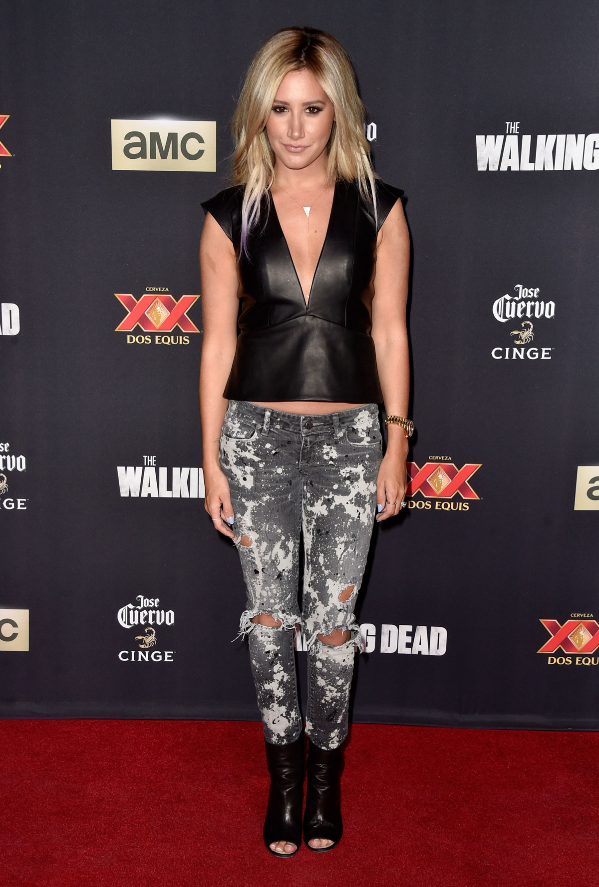 Ashley Tisdale Attneds The Walking Dead Season 5 Premiere
