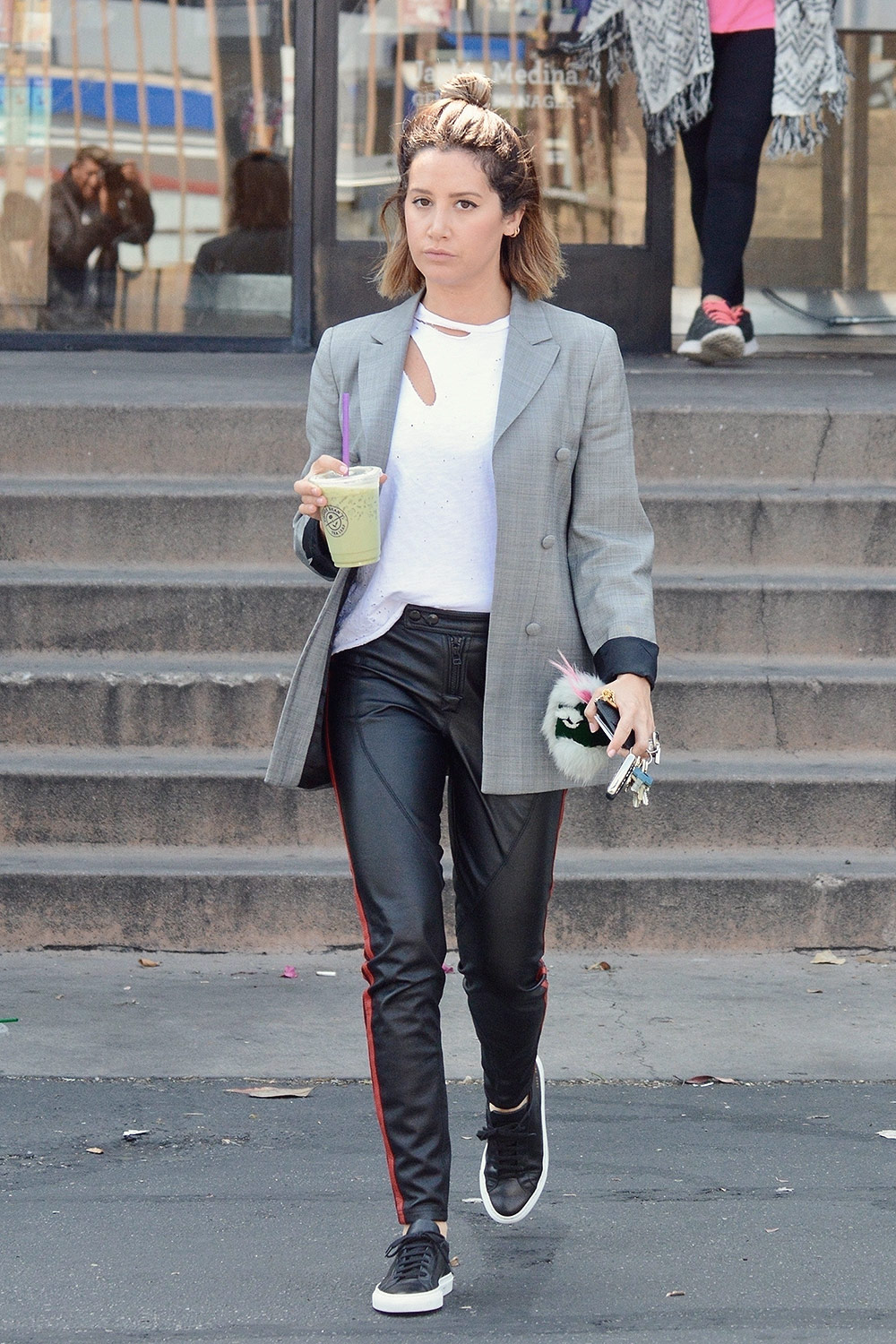 Ashley Tisdale leaving The Coffee Bean & Tea Leaf