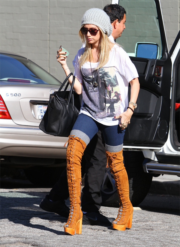 Ashley Tisdale out and about candids in LA