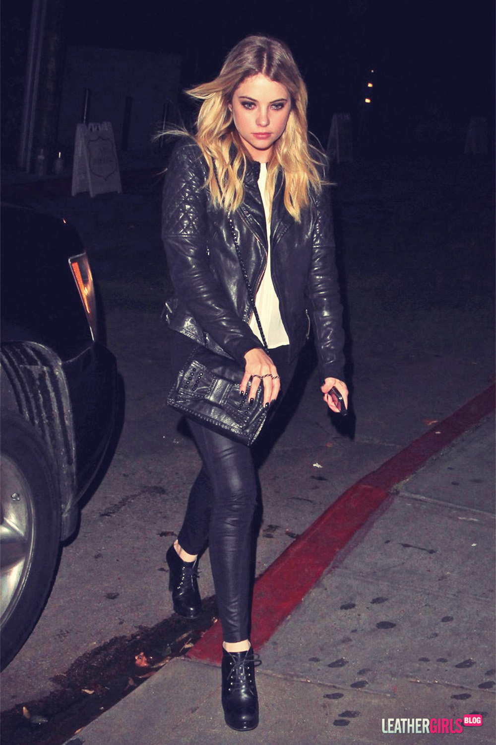Ashley Benson heads out of the Chateau Marmont
