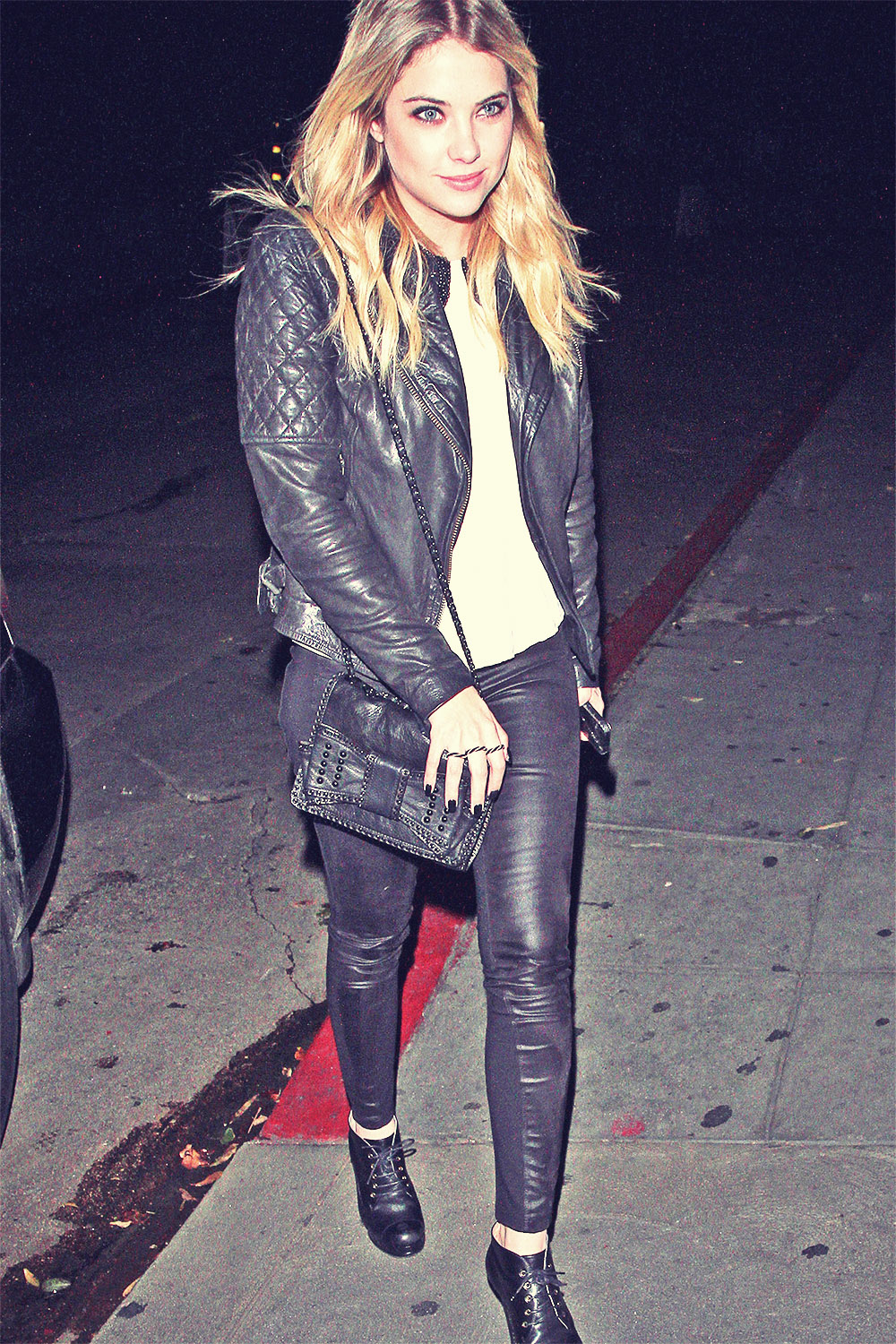 Ashley Benson arriving to the Chateau Marmont