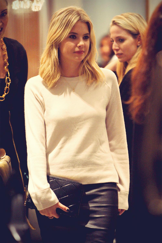 Ashley Benson leaving the Monika Chiang store