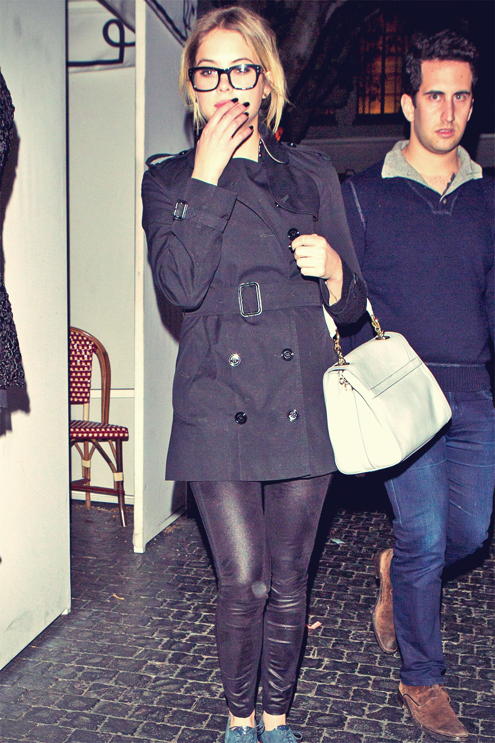 Ashley Benson was seen leaving the Chateau Marmont