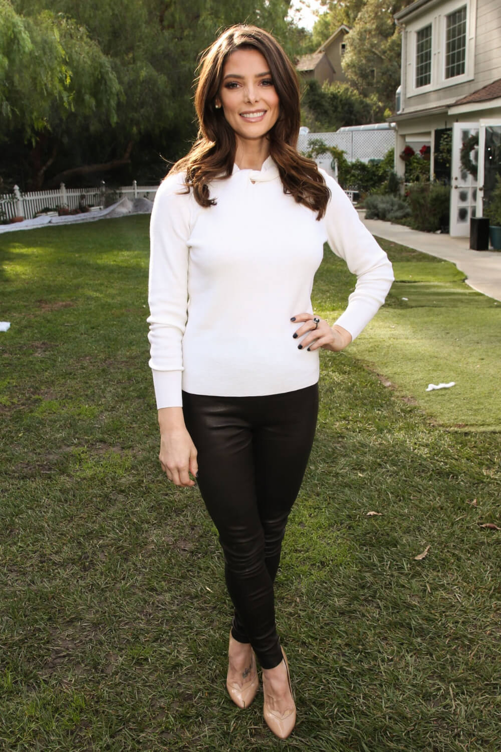 Ashley Greene attends On Hallmark Channel's 'Home & Family'