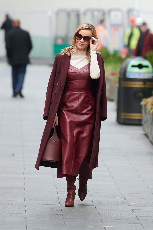 Ashley Roberts seen at Global House radio in London