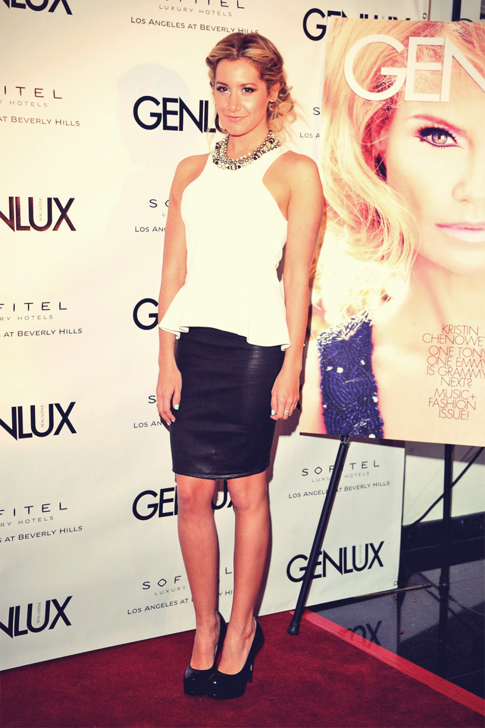 Ashley Tisdale attends New Bar Riviera 31 opening
