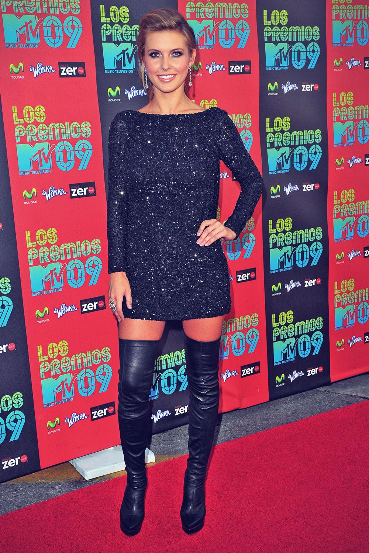 Audrina Patridge arrives at the MTV Latin America Awards