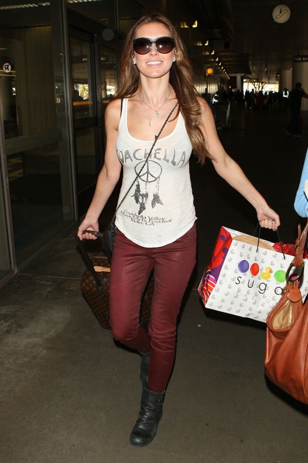 Audrina Patridge at LAX airport