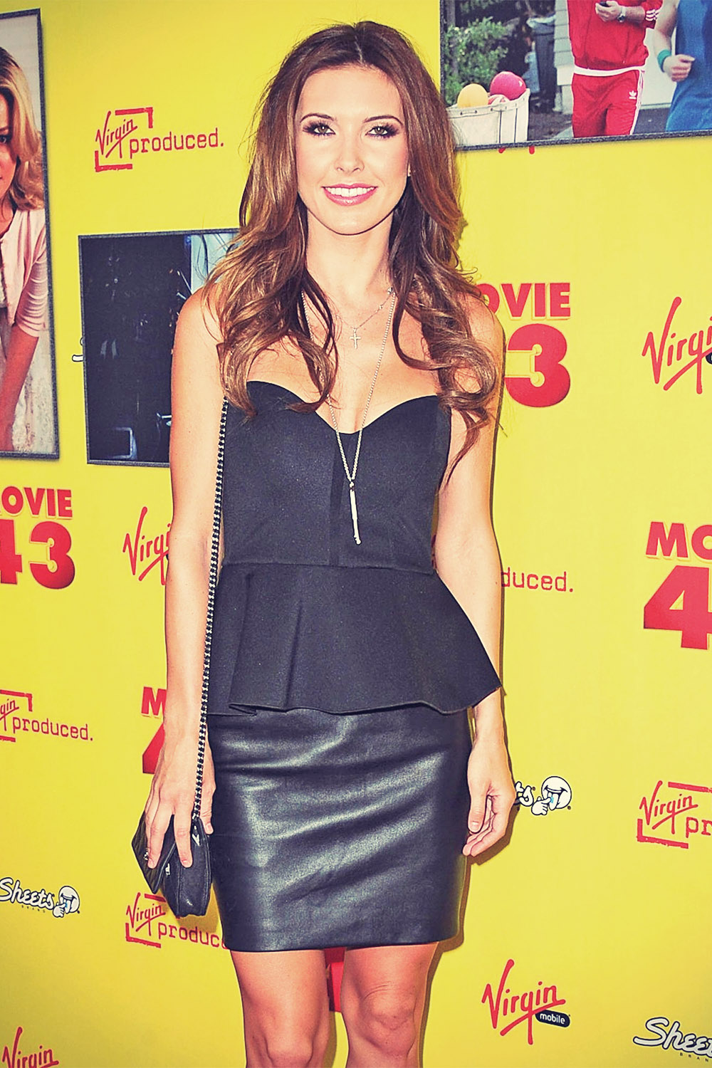Audrina Patridge attends remiere of Movie 43