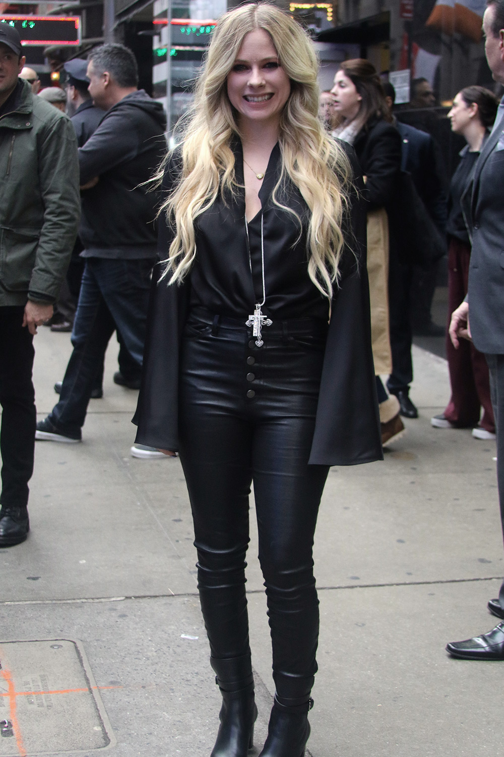 Avril Lavigne outside 'Good Morning America'