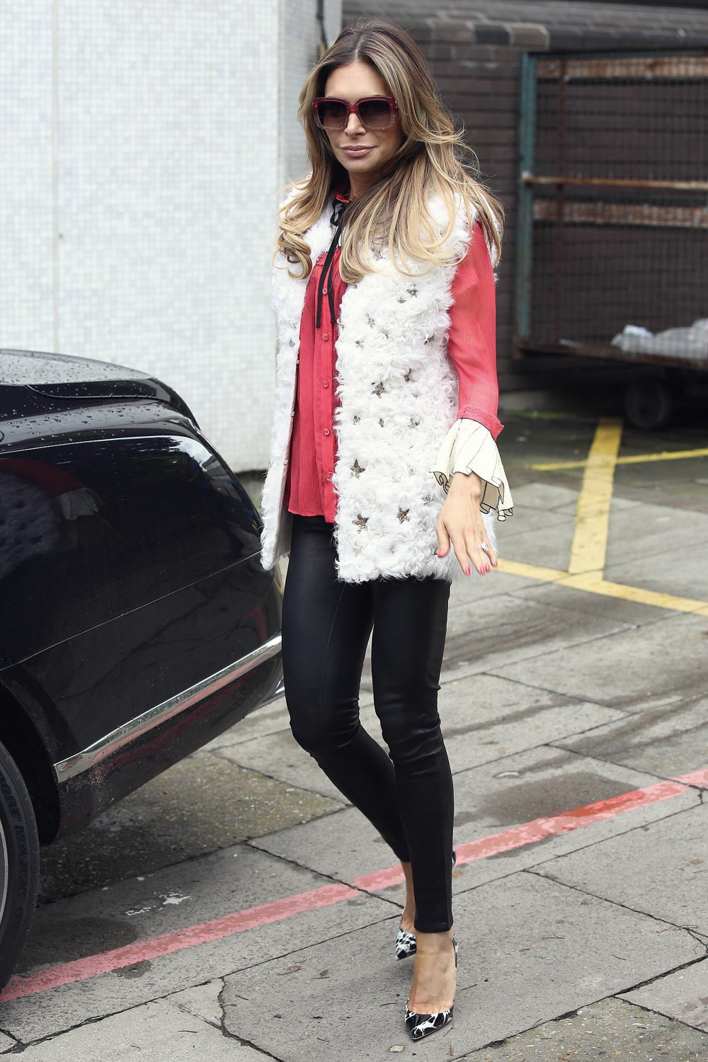 Ayda Field seen leaving the ITV Studios