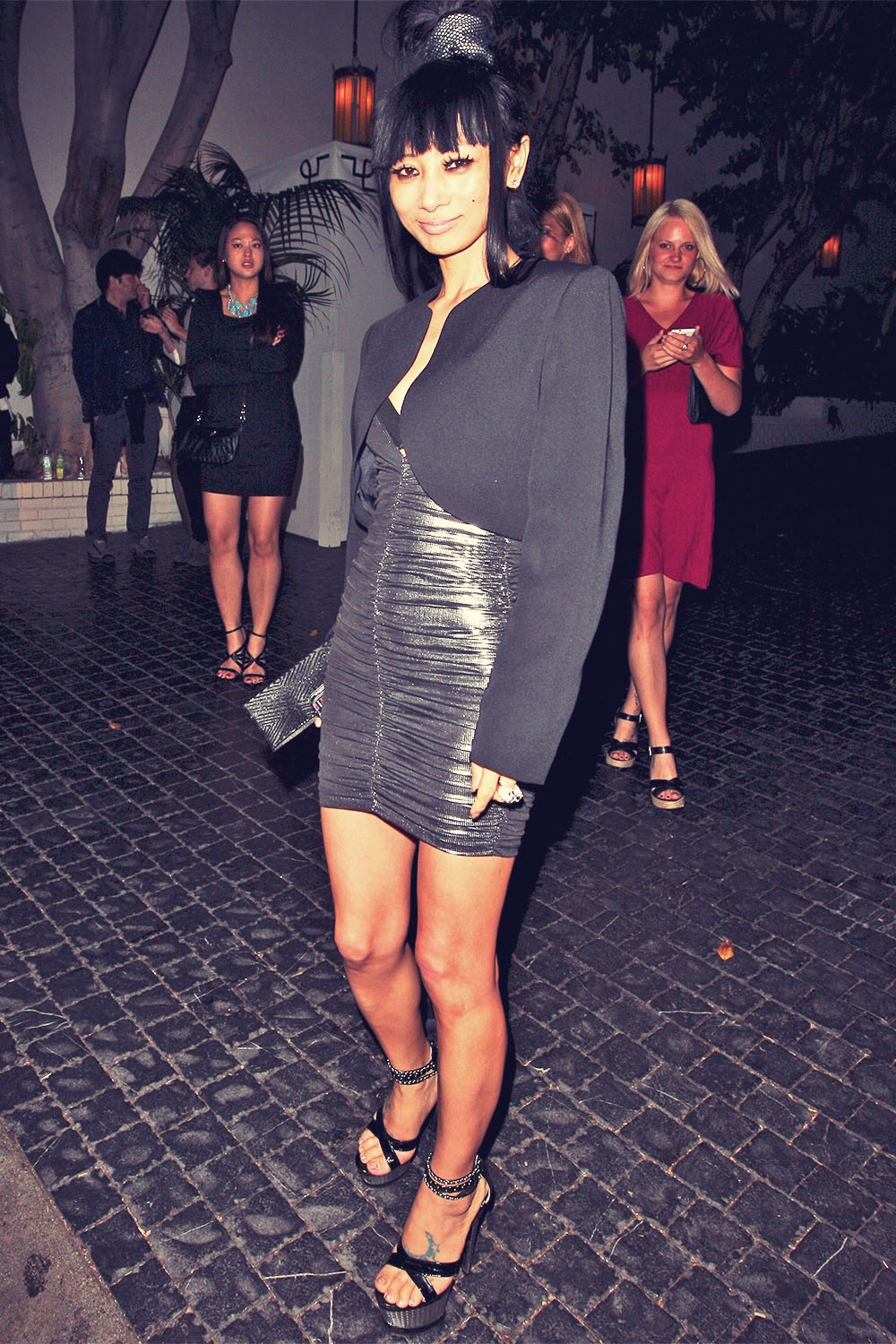 Bai Ling leaves the Chateau Marmont