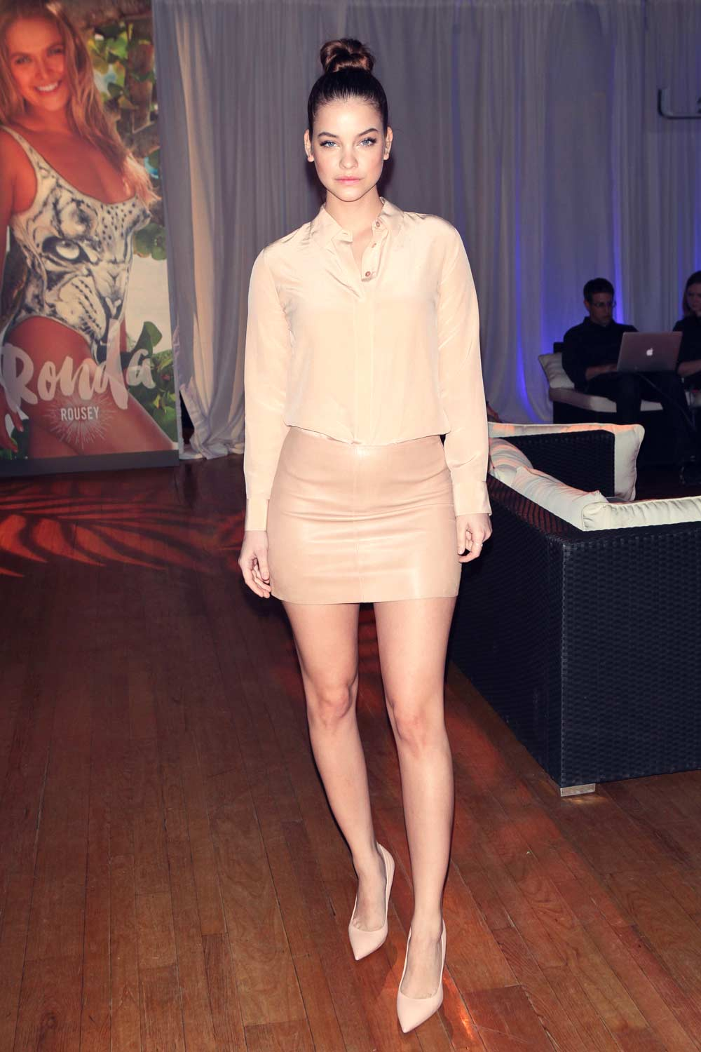 Barbara Palvin attends Sports Illustrated Swimsuit 2016 press event - Leather Celebrities