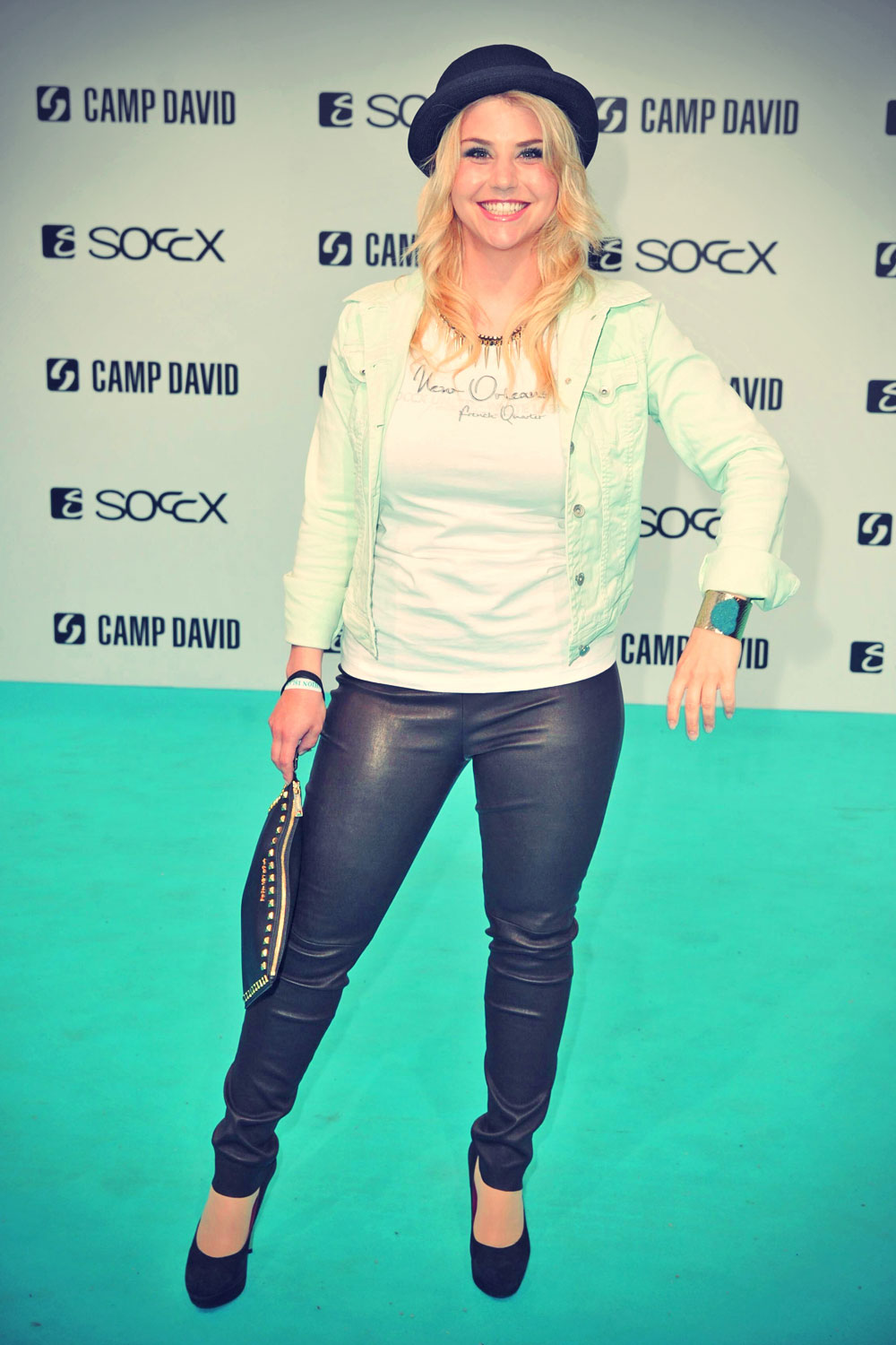... Beatrice Egli attends the Camp David And Soccx Fashion Night 2013