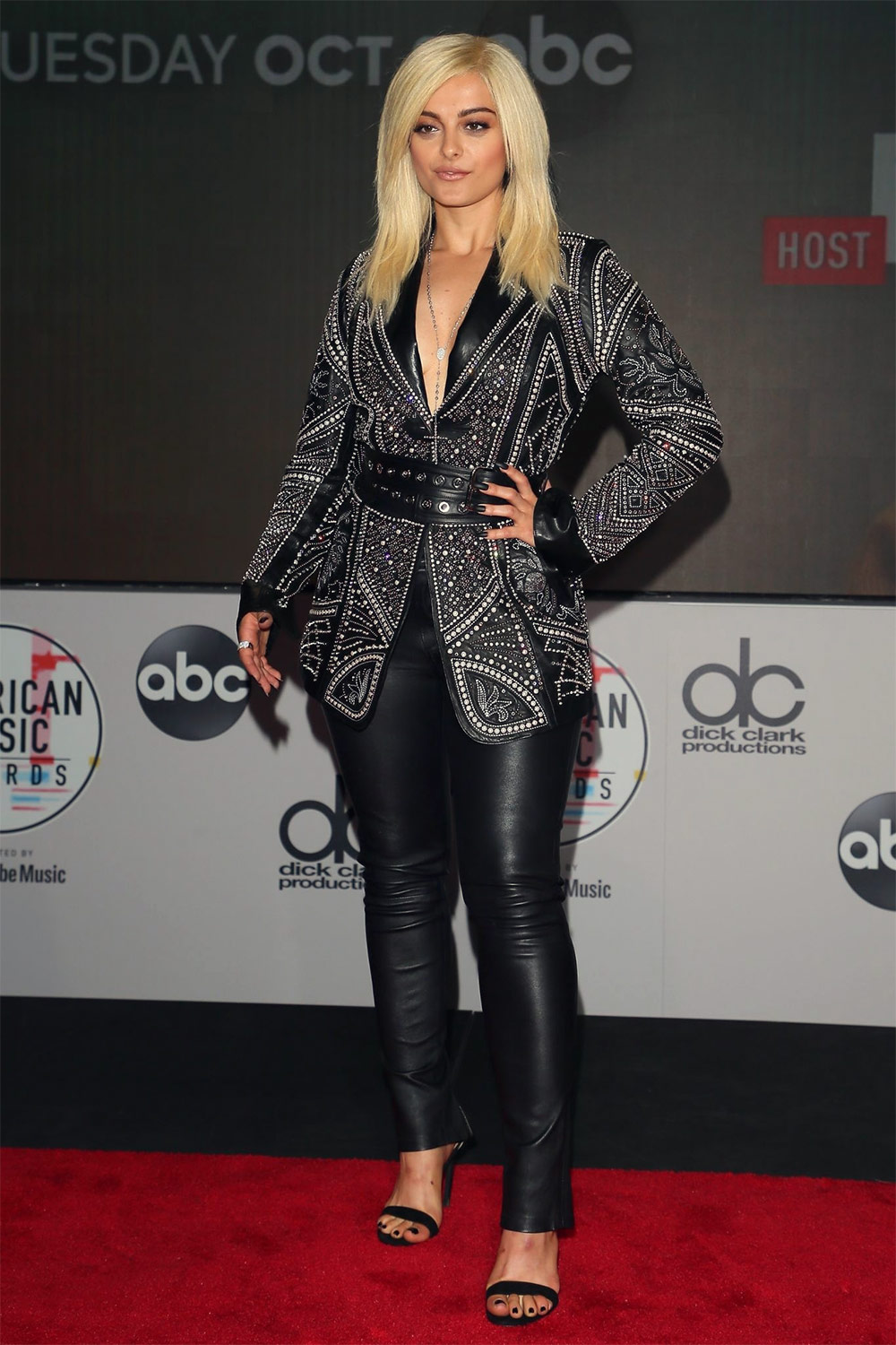 Bebe Rexha attends 2018 American Music Awards