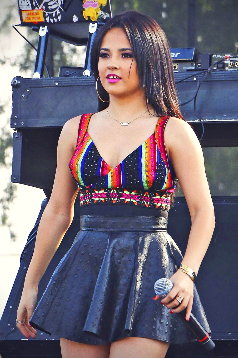 Becky G Performs At La Pride 2015 Leather Celebrities