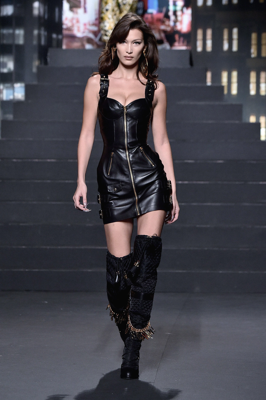 Bella Hadid attends Moschino X H&M Fashion Show