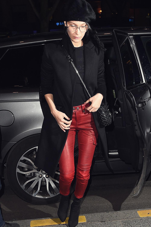 Bella Hadid is seen in Paris
