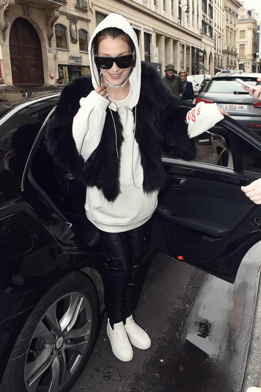 Bella Hadid out in Paris