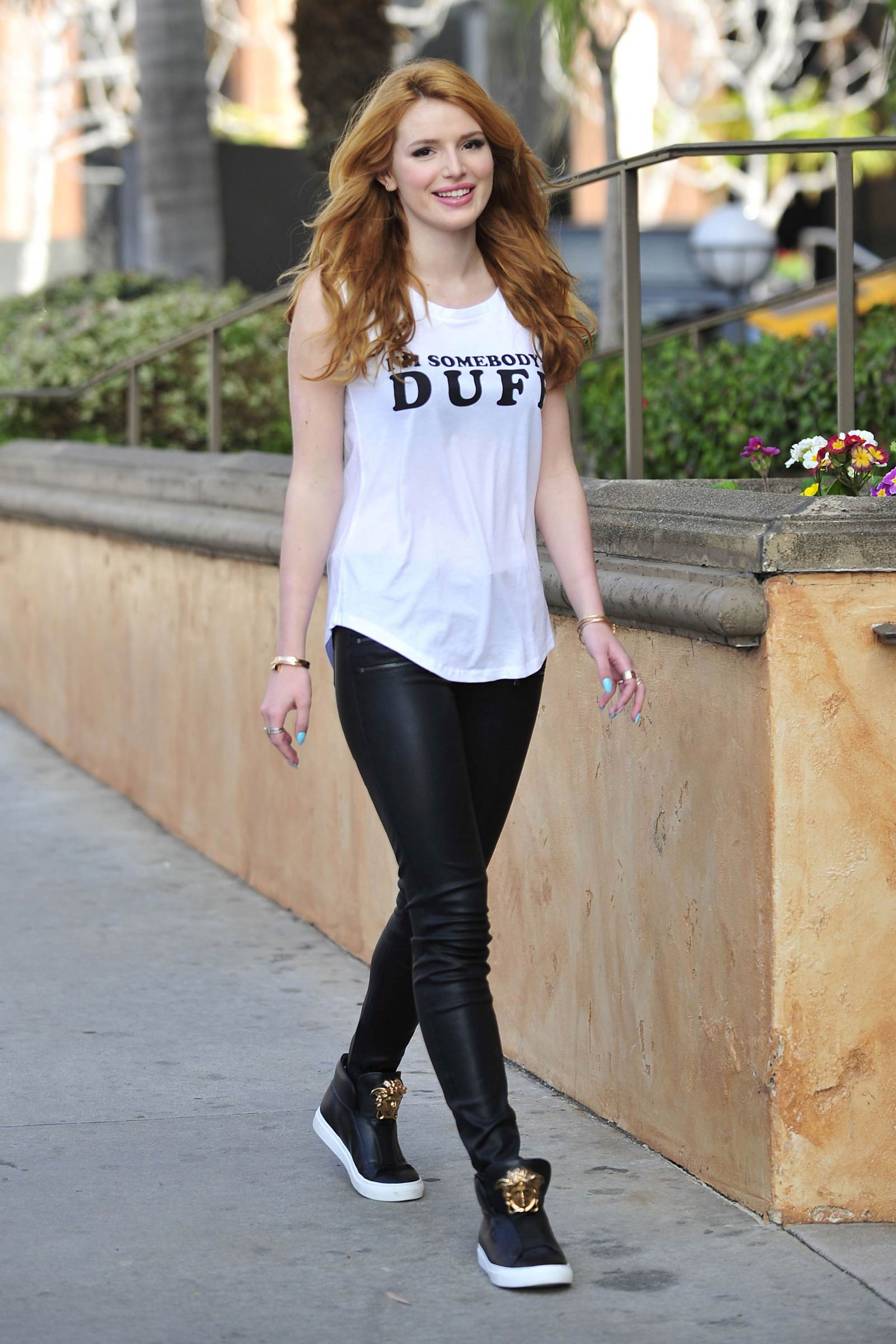 Bella Thorne leaving a Press Day Event for The Duff