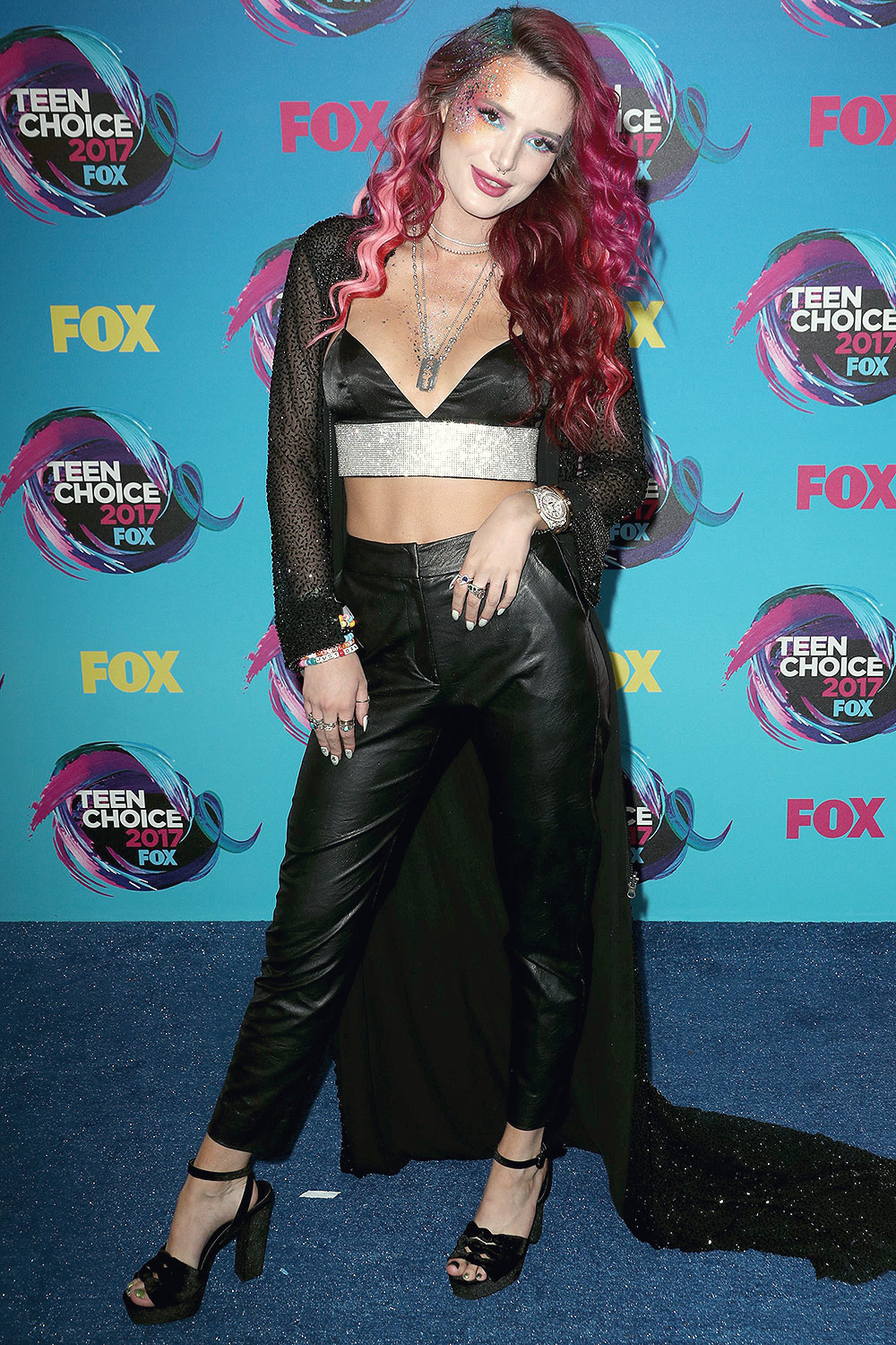 Bella Thorne attends 2017 Teen Choice Awards - Leather ...