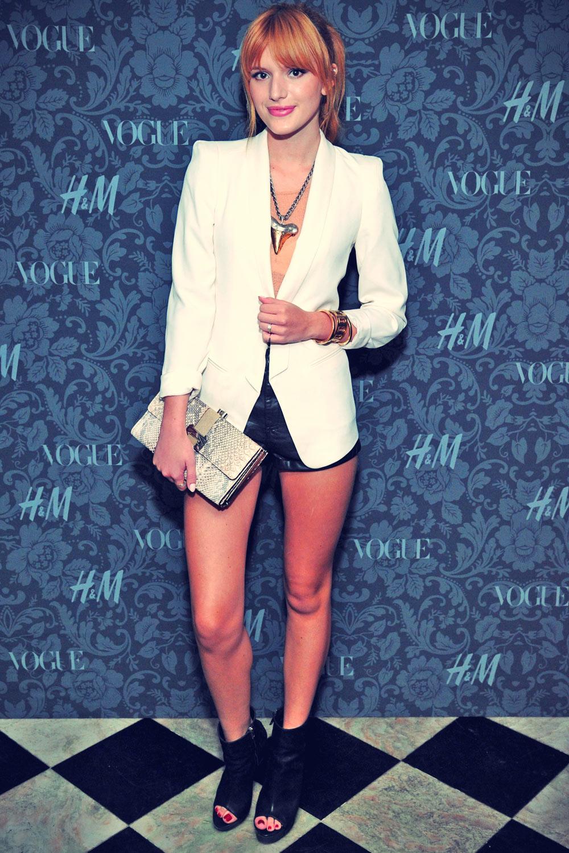 Bella Thorne attneds H&M and Vogue Studios