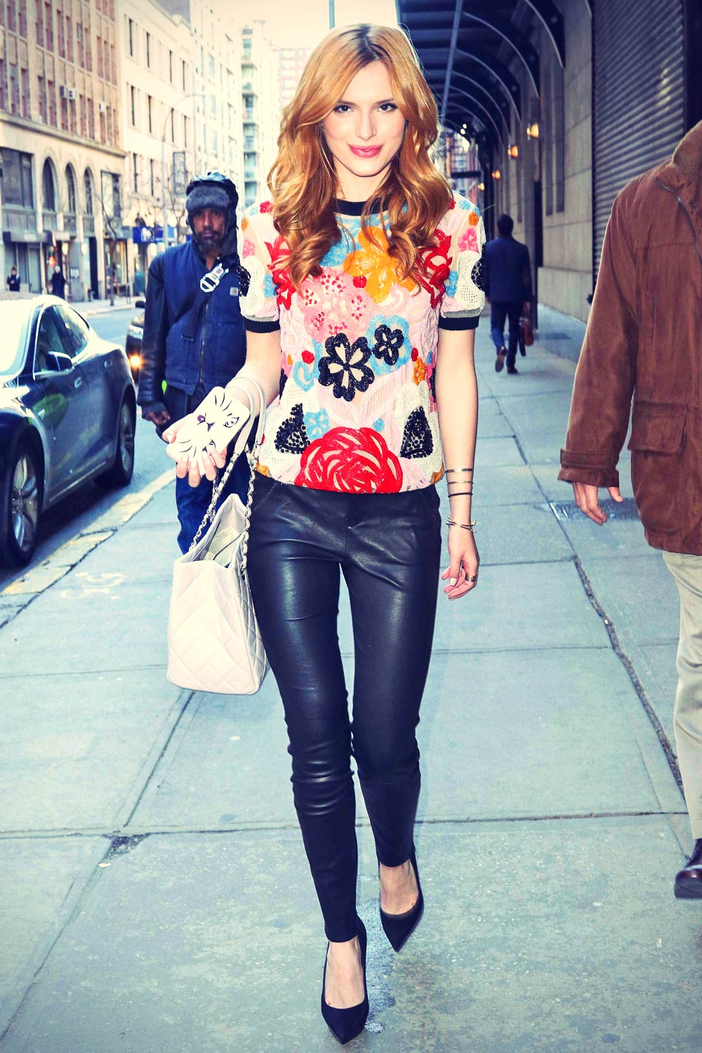 Bella Thorne out in NYC