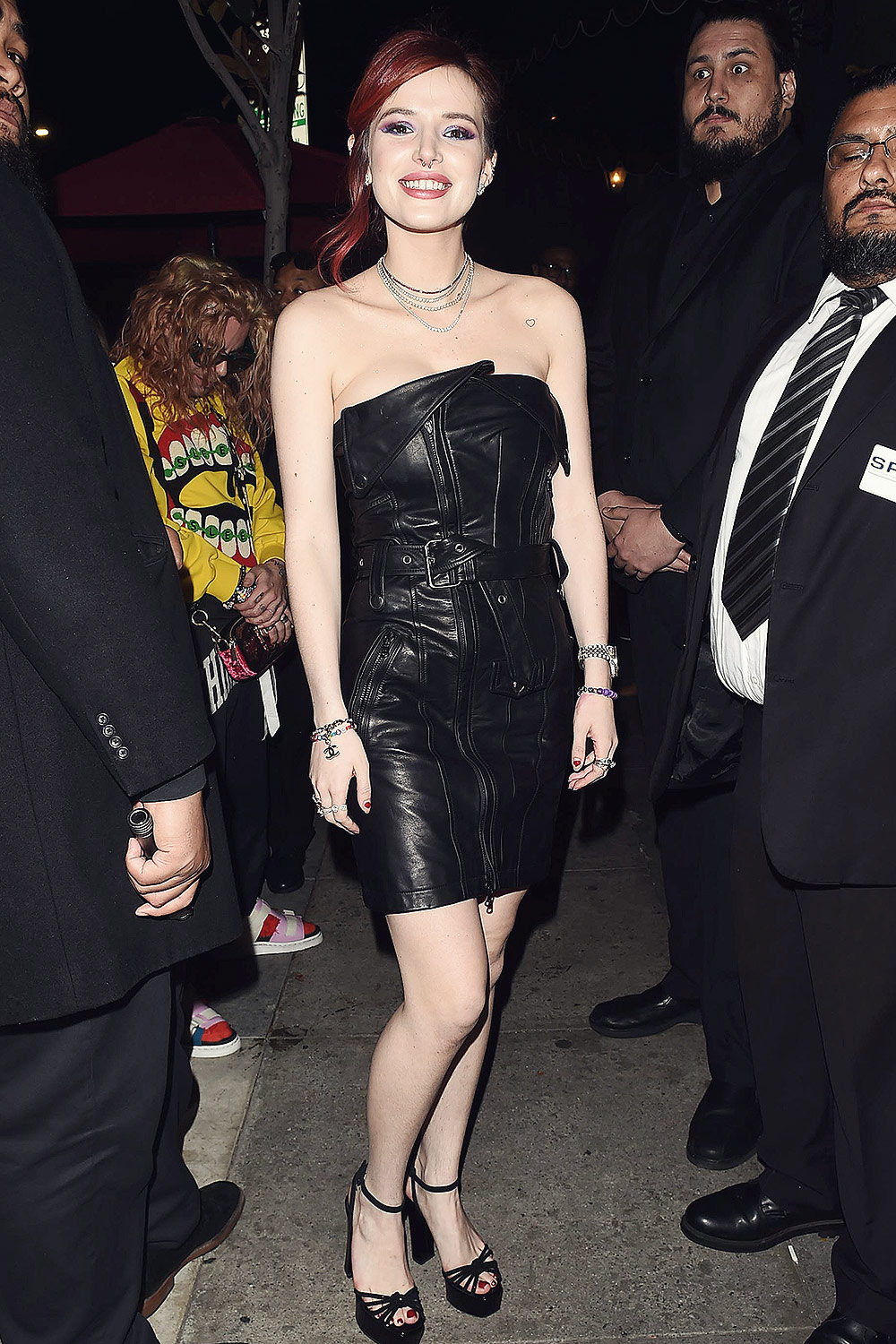 Bella Thorne was spotted arriving at Avenue nightclub