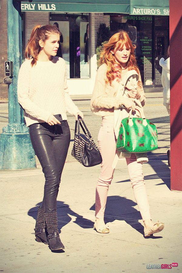 Bella Thorne and Barbara Palvin out and about candids