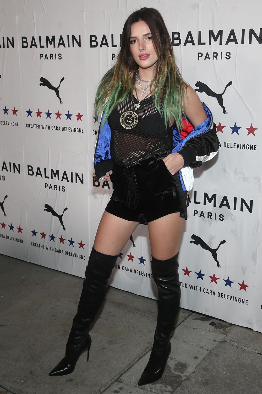 Bella Thorne attends PUMA x Balmain Launch Event