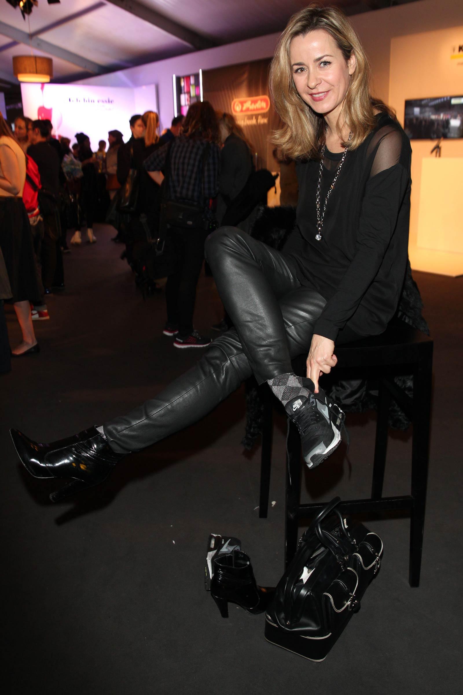 Bettina Cramer attends Mercedes-Benz Fashion Week