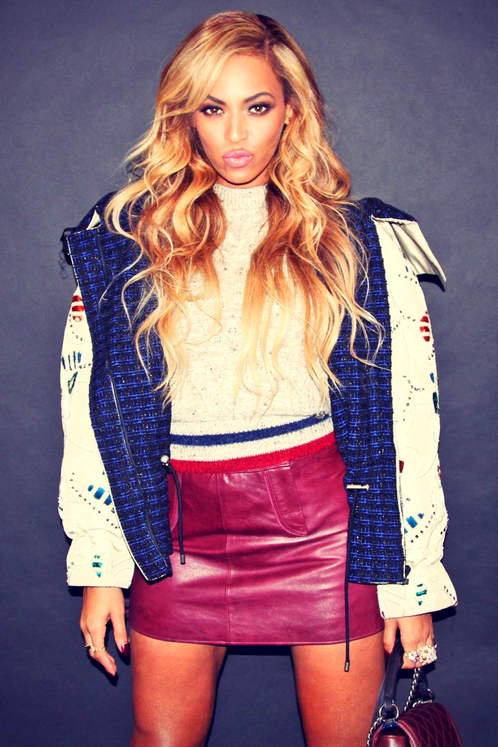 Beyonce at the Chanel Fashion Show in New York City
