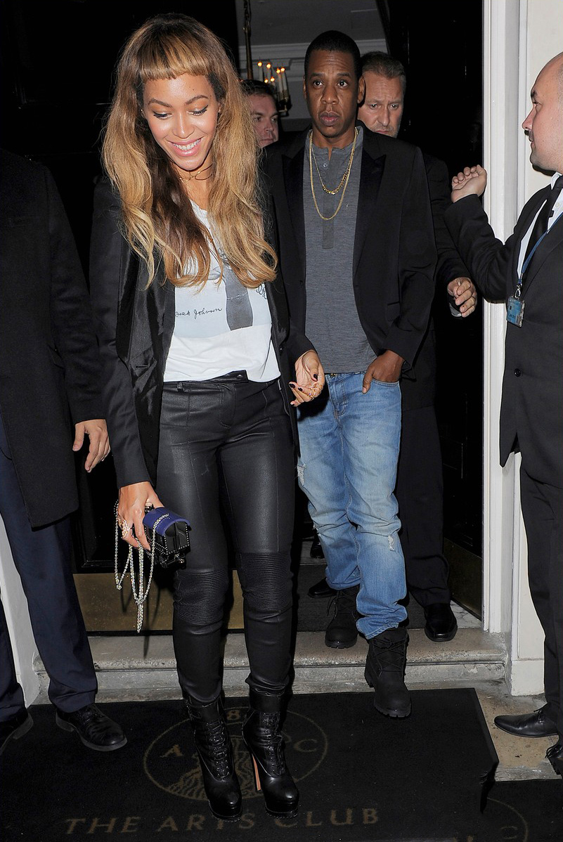 Beyonce leaves the Arts Club in London