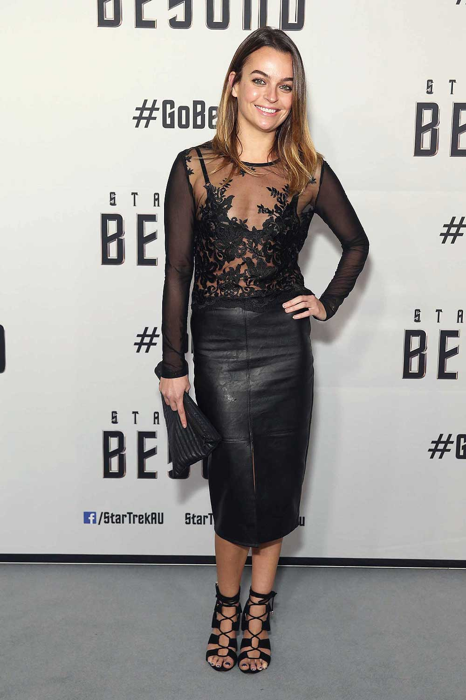 Bianca Brady arrives ahead of the Star Trek Beyond Australian Premiere