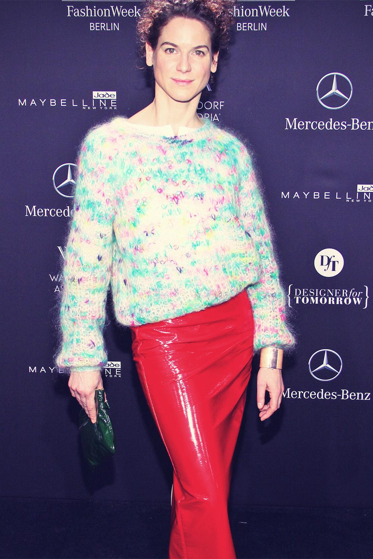 Bibiana Beglau attends Mercedes-Benz Fashion Week