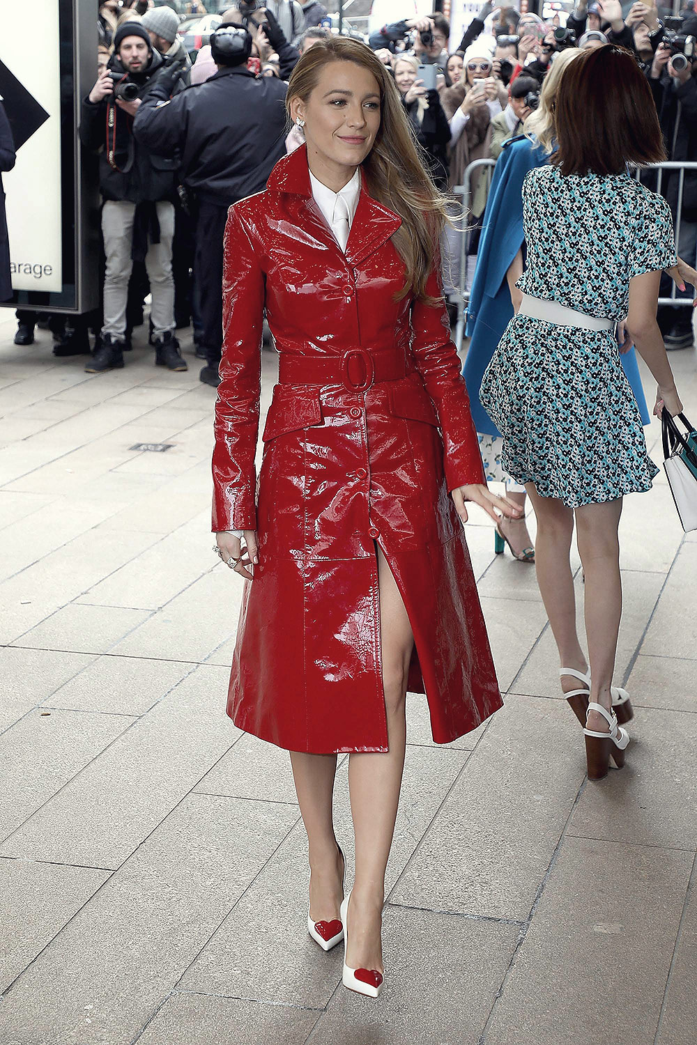 Blake Lively arrives at the Michael Kors show