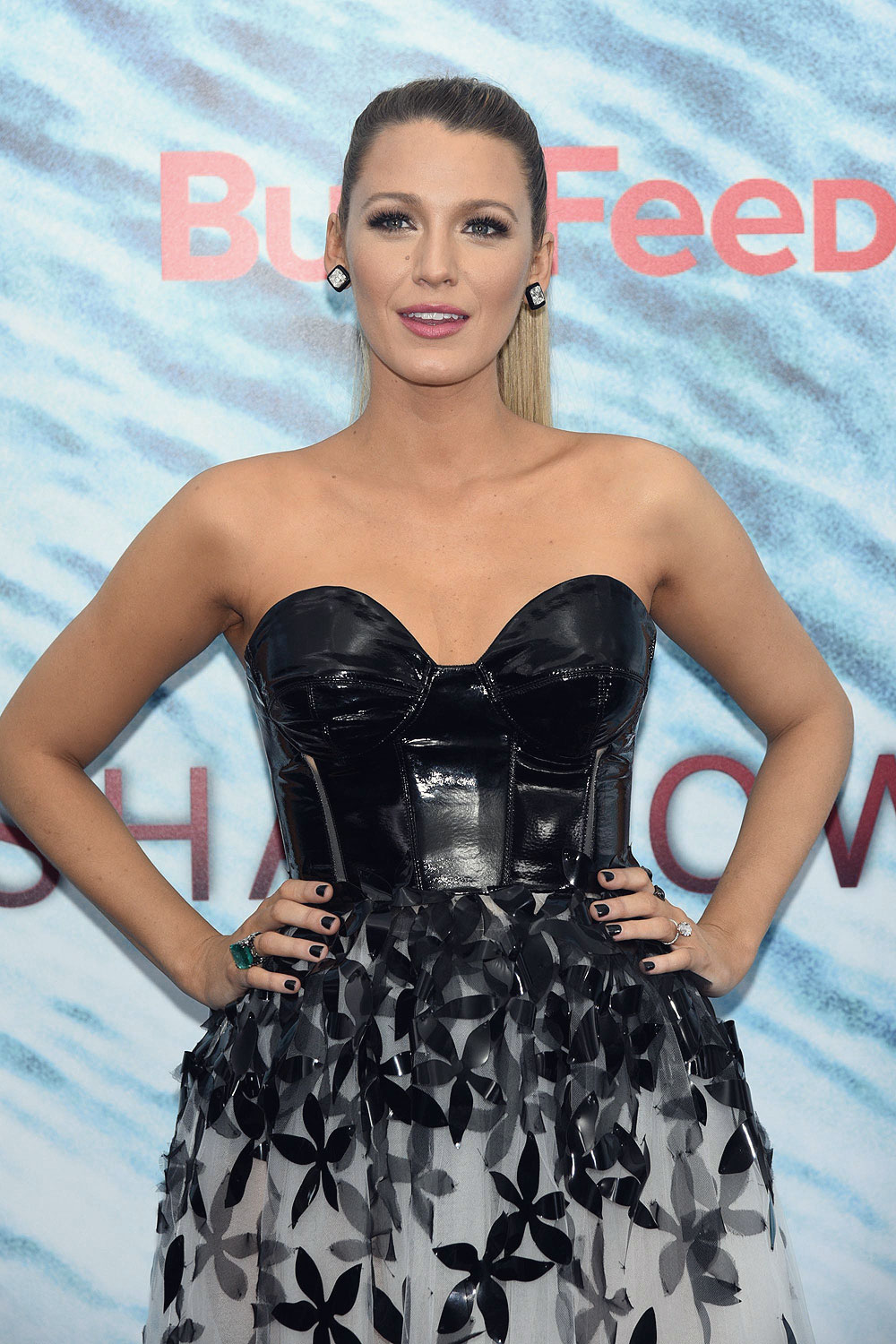 Blake Lively Attends The Shallows Premiere Leather