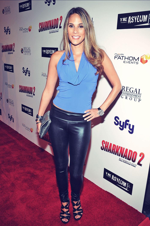 Bonnie-Jill Laflin attends Sharknado 2 premiere in LA