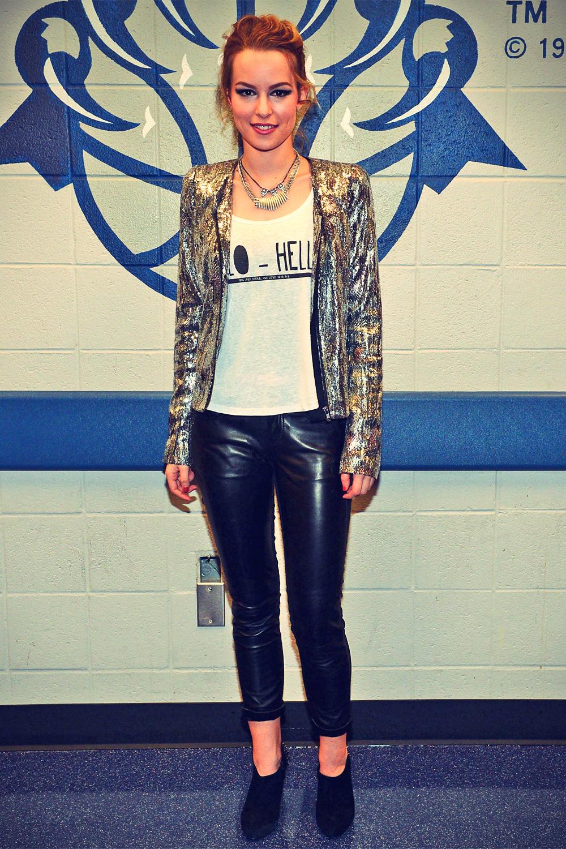 Bridgit Mendler attends Power 96.1 Jingle Ball
