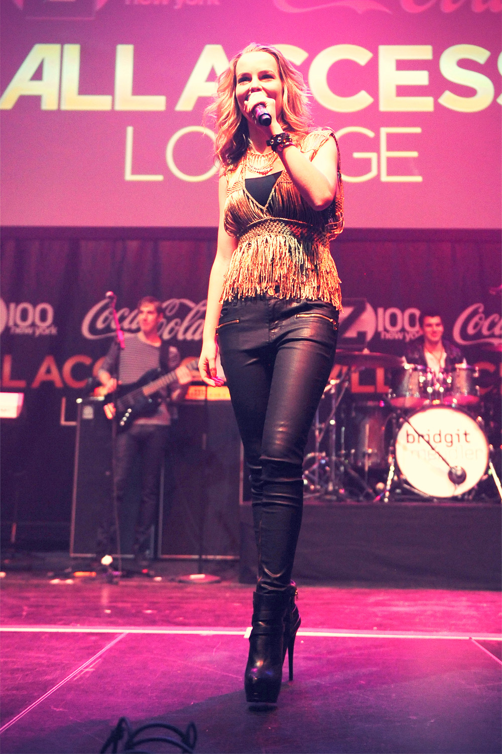 Bridgit Mendler performs at Z100 & Coca-Cola All Access Lounge