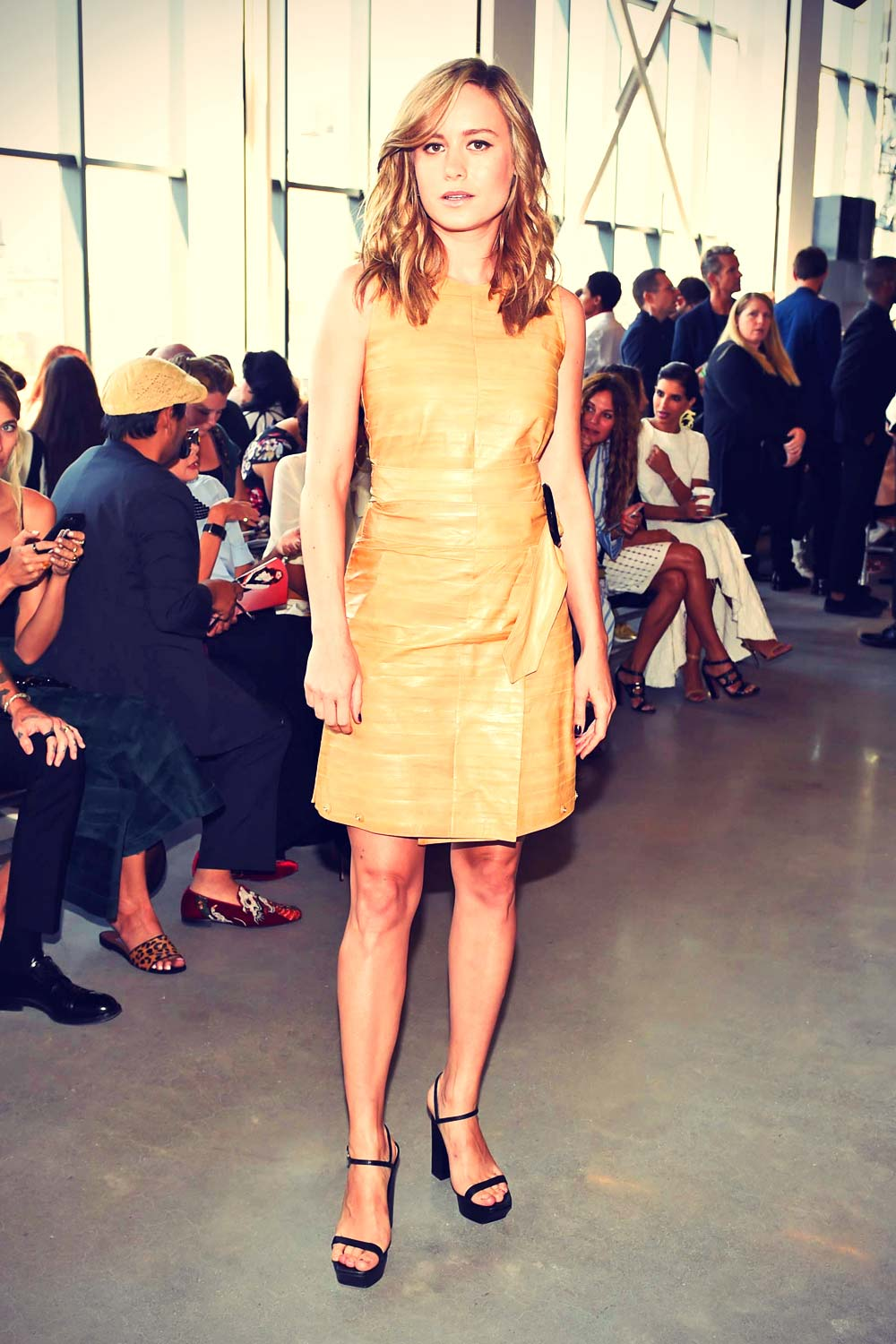 Brie Larson attends CALVIN KLEIN Collection Presents: The Women's Spring 2016 Runway Show